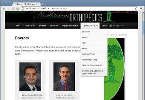 Northtowns Orthopedics, P.C. Web Site